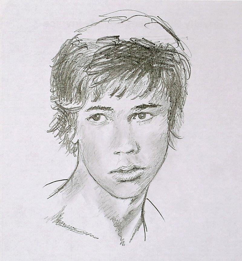 Pencil sketch: Portrait of a Boy by Denish-C