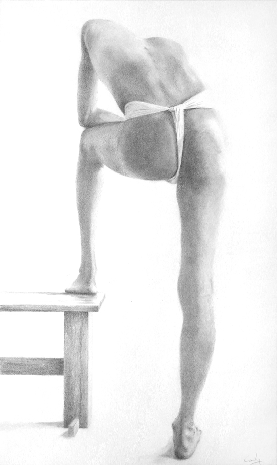 Figure Study - Man with Foot on Stool by Denish-C