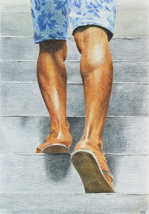 *A Man Walking up Steps* by Denish-C