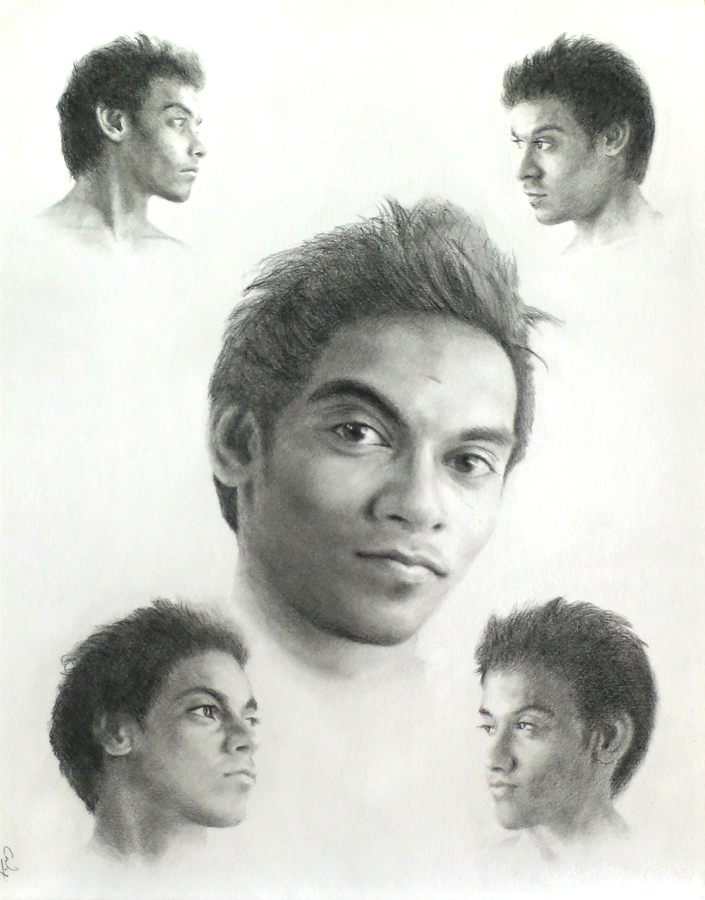 Five Portraits of Nilhan by Denish-C