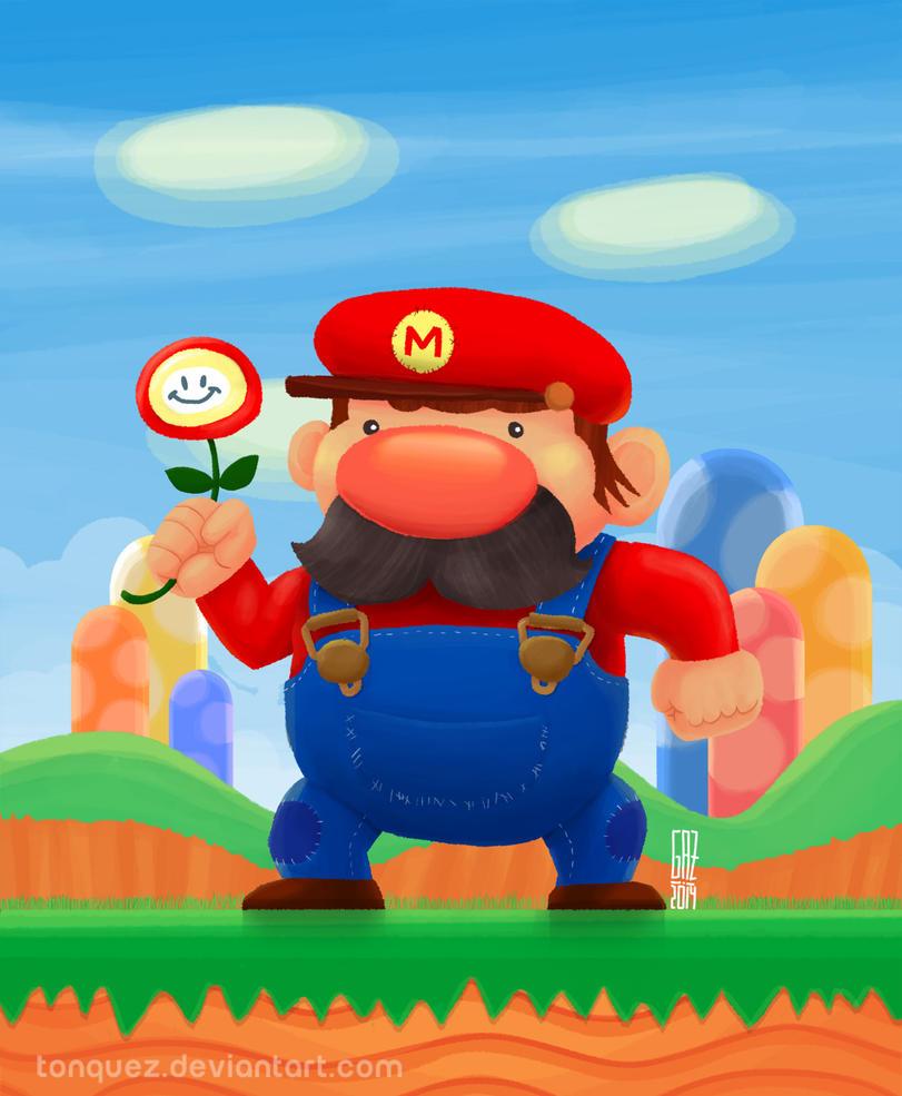 Mario from Super Mario Bros by Tonquez