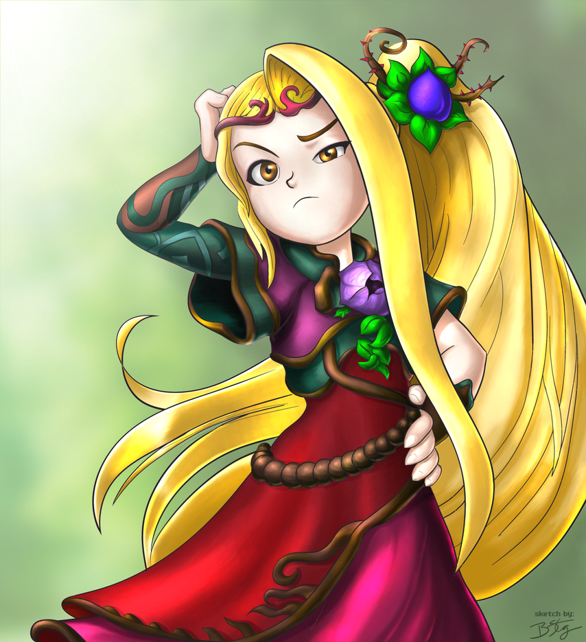 Viridi goddess of nature kid icarus uprising by slash000 on