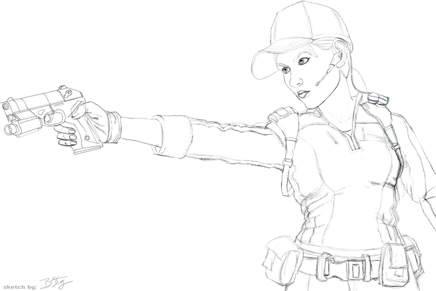 resident evil 5 jill valentine coloring pages | art breath death cthulhu saves the world zac gorman ...