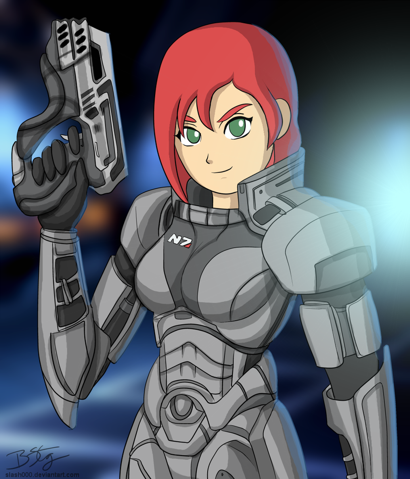 Cartoony Femshep! (Bill Stiernberg)