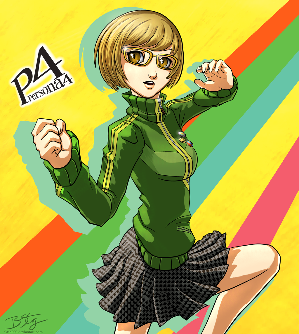 Chie Satonaka - Persona 4 (by Bill Stiernberg) - click for larger versions