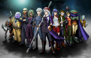 Cosmic Star Heroine - playable characters