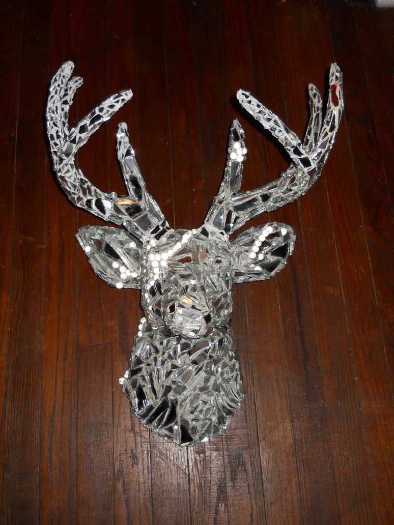Mirrored Mosaic Deer Head by m16sweetjane on deviantART