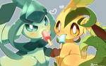 Leafon and Glaceon in 2018