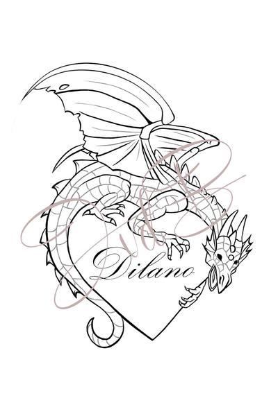 Line Drawing Dragon Tattoo : Dragon tattoo line art by xmerrow on deviantart