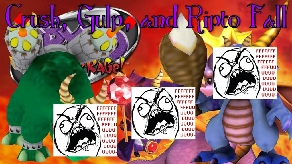Spyro Ripto's Rage - Crush, Gulp, and Ripto Fall by ChristianDragoon