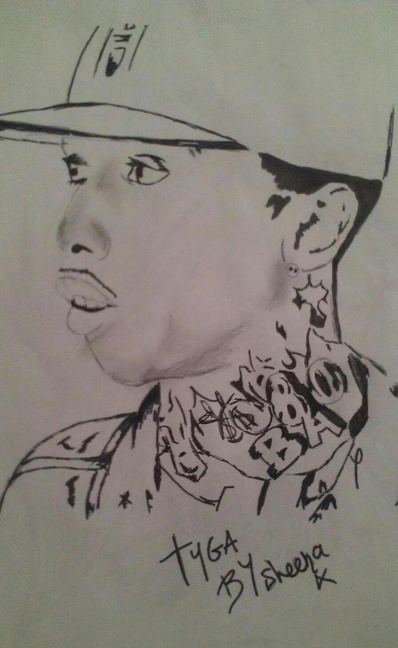 Tyga Drawing By Sheenaleigha Traditional Art Drawings Portraits