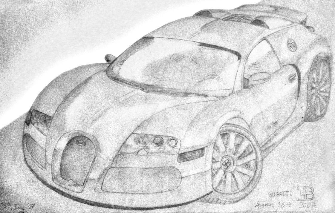 Bugatti Veyron Sketch By Amirdeilami On Deviantart
