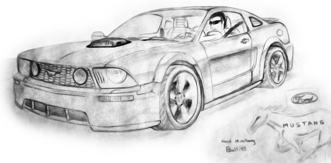 2005 Mustang Gt Sketch By Amirdeilami On Deviantart
