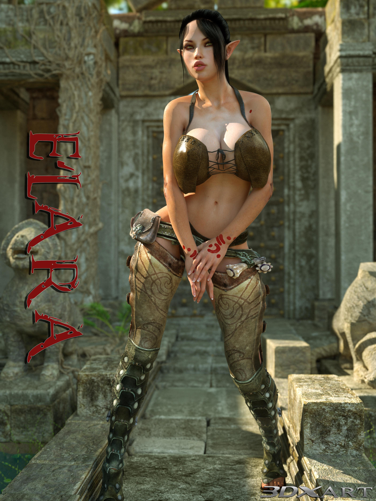 3d monster lara sex girl