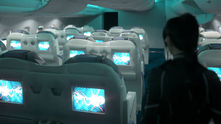 Airbus Interior Lighting test by 3DXArt