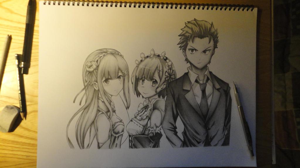 Re:Zero - Subaru + Rem + Emilia part 4/5 by Legendary8559