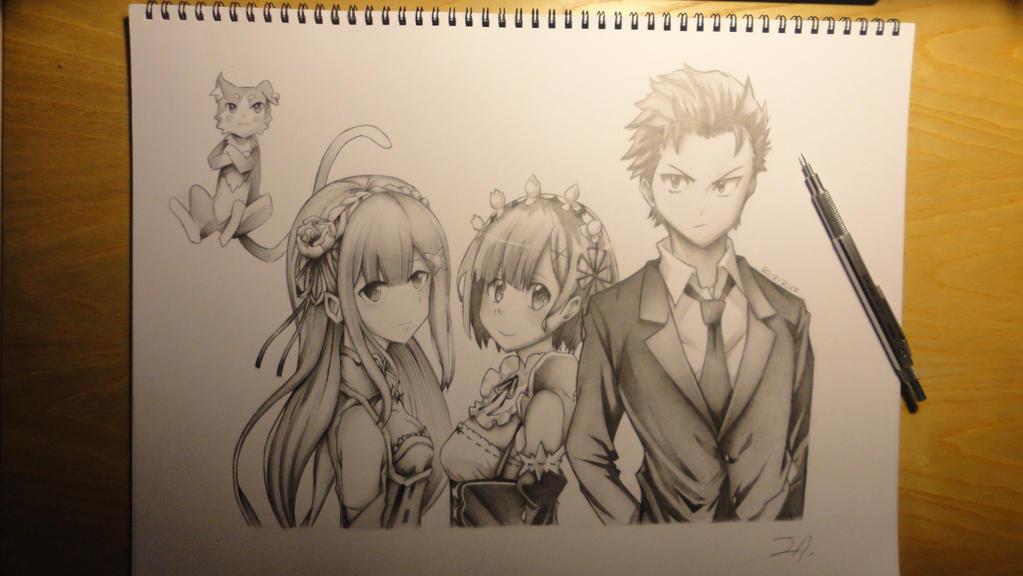 Re:Zero - Subaru + Rem + Emilia part 5/5 by Legendary8559
