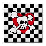Cute Skull Checker Heart by artamatikrose