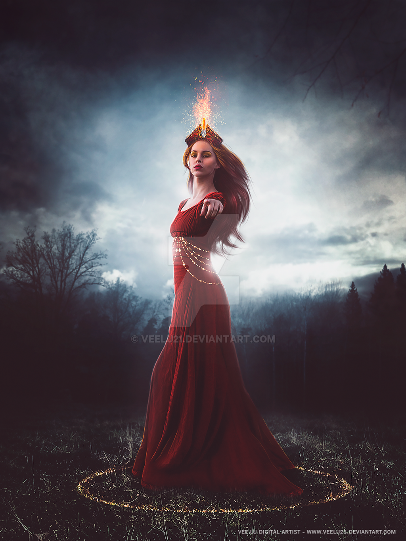Dama do fogo by Veelu21