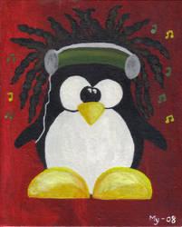 Rasta penguin by Oneelove