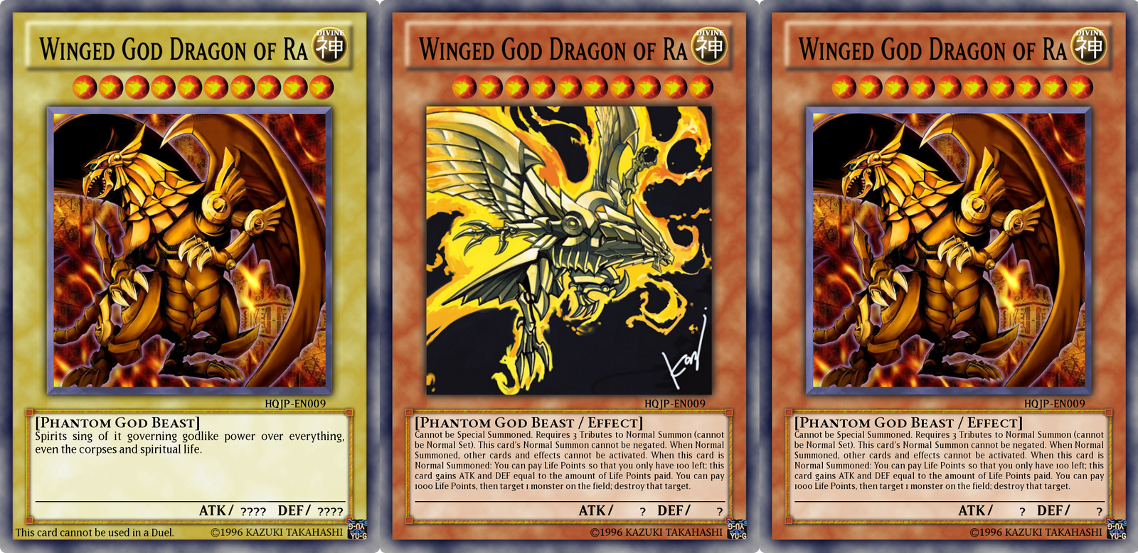 HQJP Card - Winged God Dragon of Ra by BT-YGOThe Winged Dragon Of Ra Effect