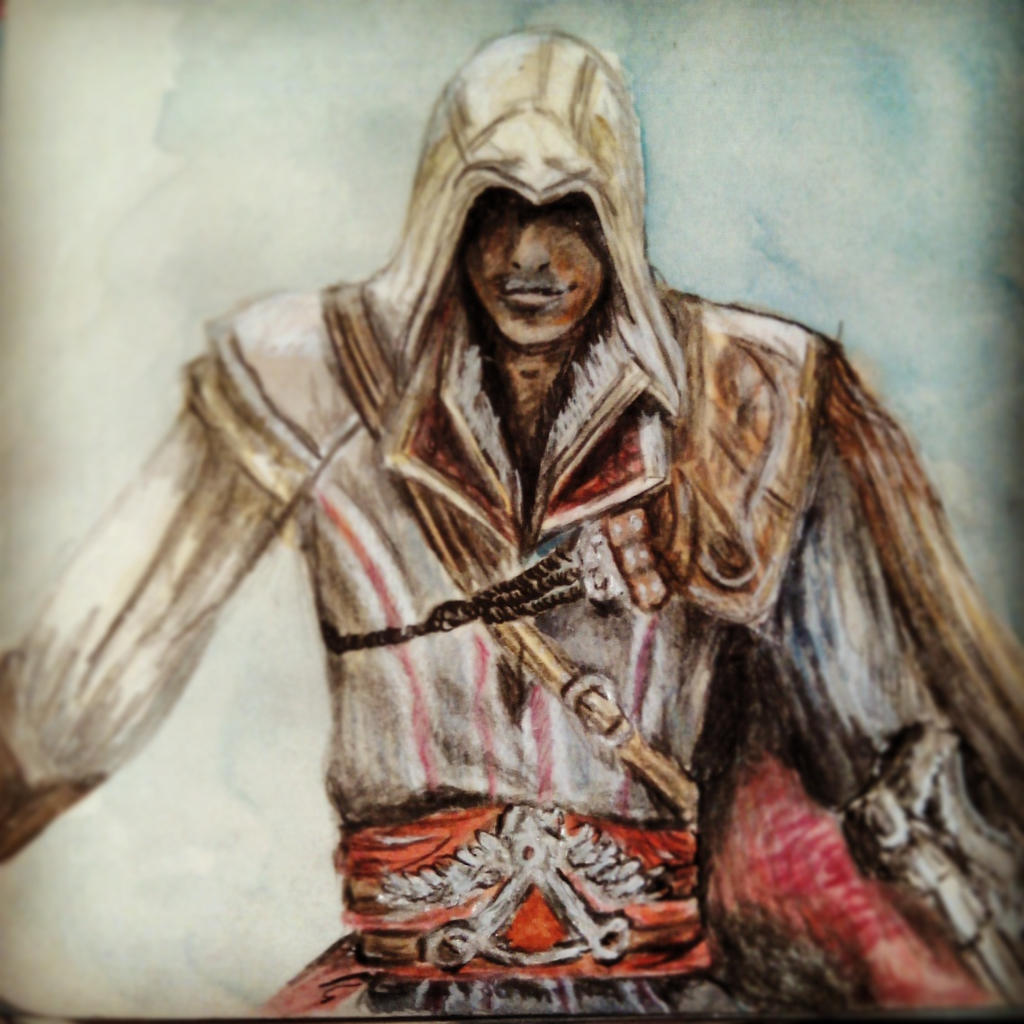 Ezio Auditore Da Firenze Quick Drawing By Fluffelkuh On