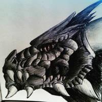 Dragon Sketch by fluffelkuh