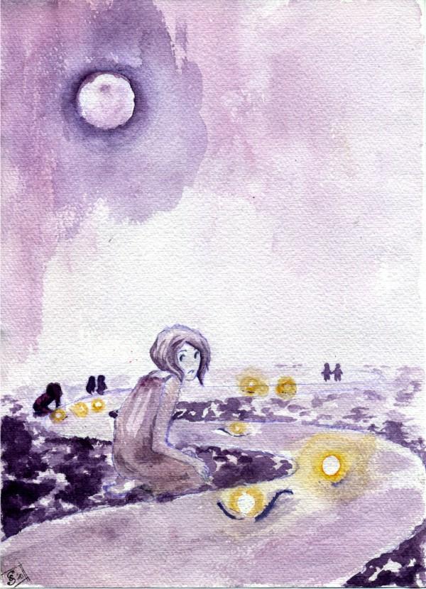 .purple moon. by forgottenpoem