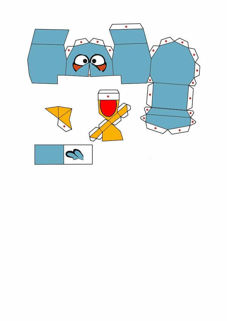 angry bird pig template - angry birds papercraft pictures to pin on pinterest
