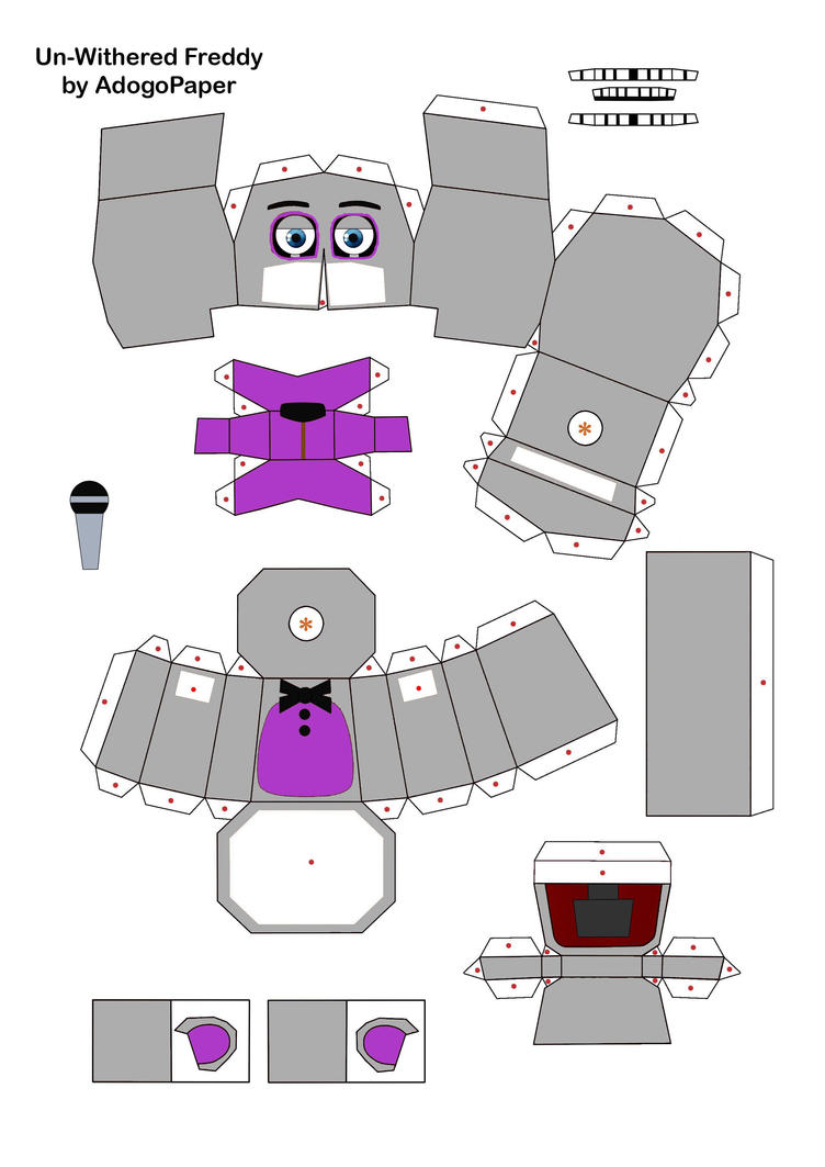 Withered Bonnie Papercraft