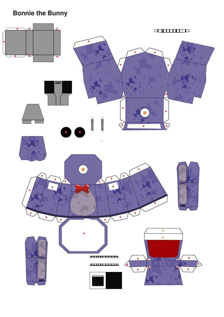 Witheredbonnie Fnaf 1 Part1 papercraft by jackobonnie1983 on DeviantArt