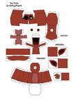 Toy classic foxy Papercraft  Part1
