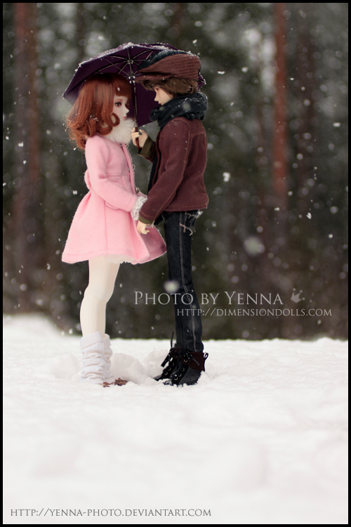 A Date in the Snowfall by yenna-photo