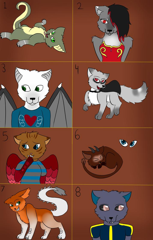 Cross Adopts (5 points) Batch 2 (8/8 OPEN) by VampiricLepara