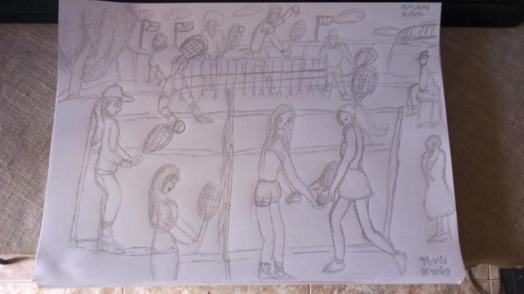 Tennis Drawing by Leko2
