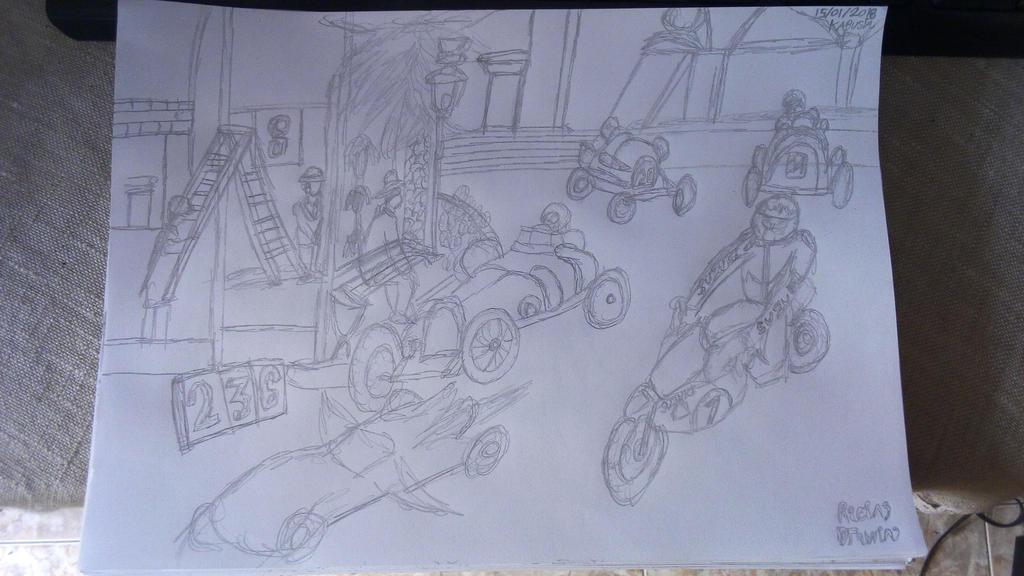 Racing Drawing by Leko2