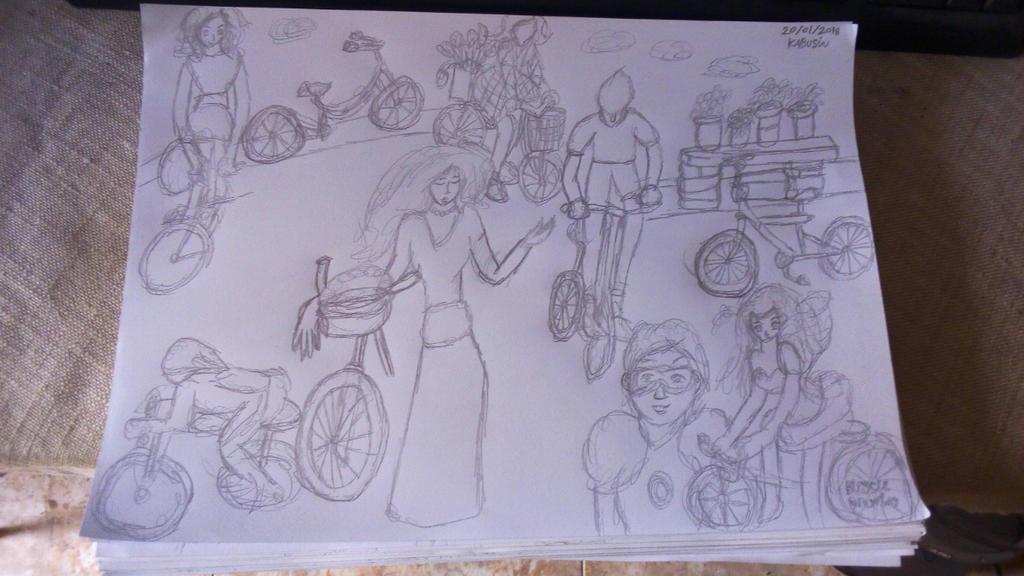 Bicycles Drawing by Leko2