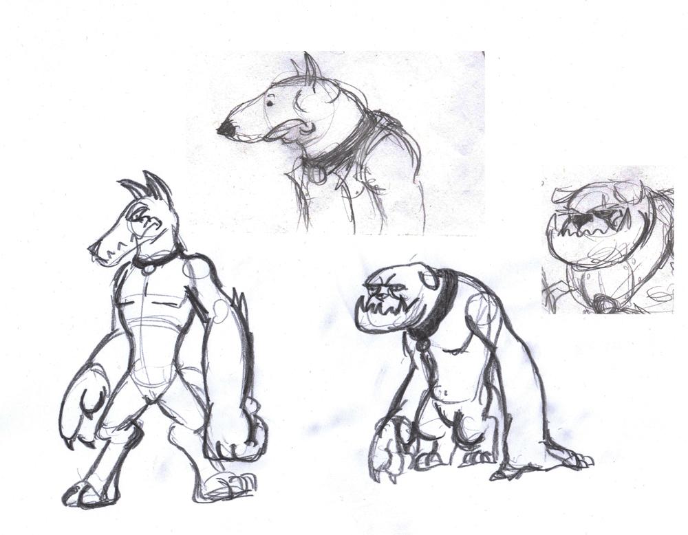 Diamond Dogs Sketches 01 by Velgarn