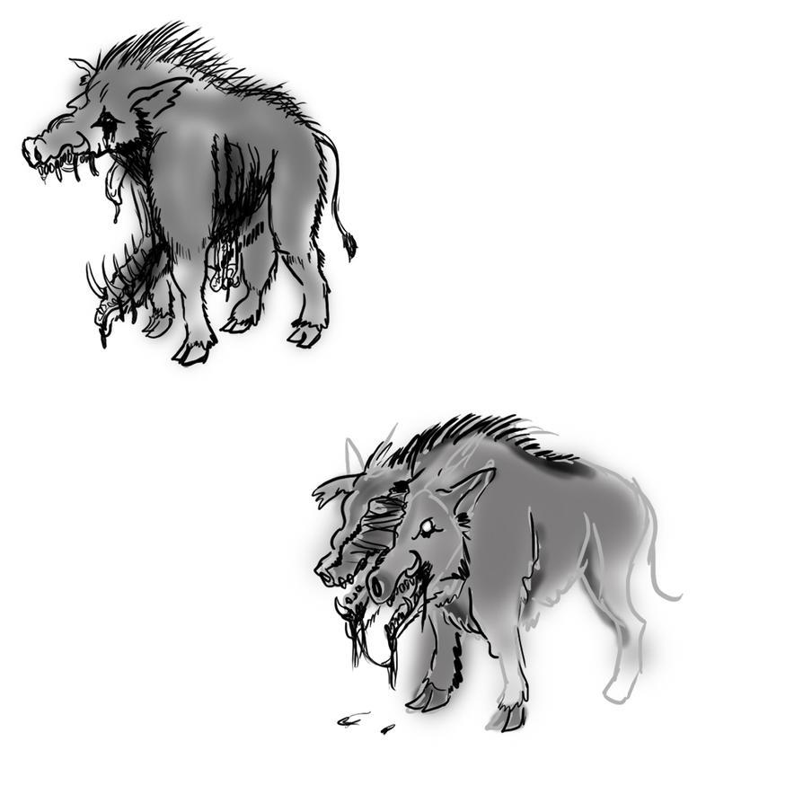 Splatter Boar by Velgarn
