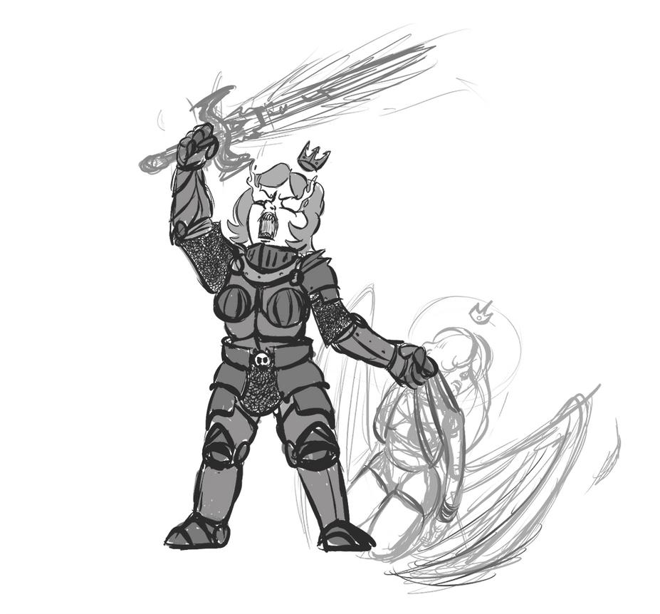 Black Guard Princess Sketch by Velgarn