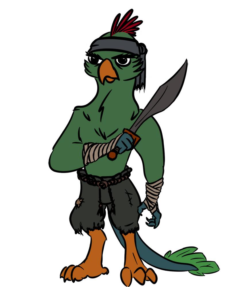 Harpy Pirate Token by Velgarn