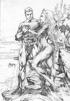 Aquaman and Mera by Alissonart