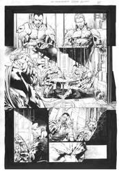 X-Omanowar#26 pg20 pencil Diego bernard ink by me by Alissonart