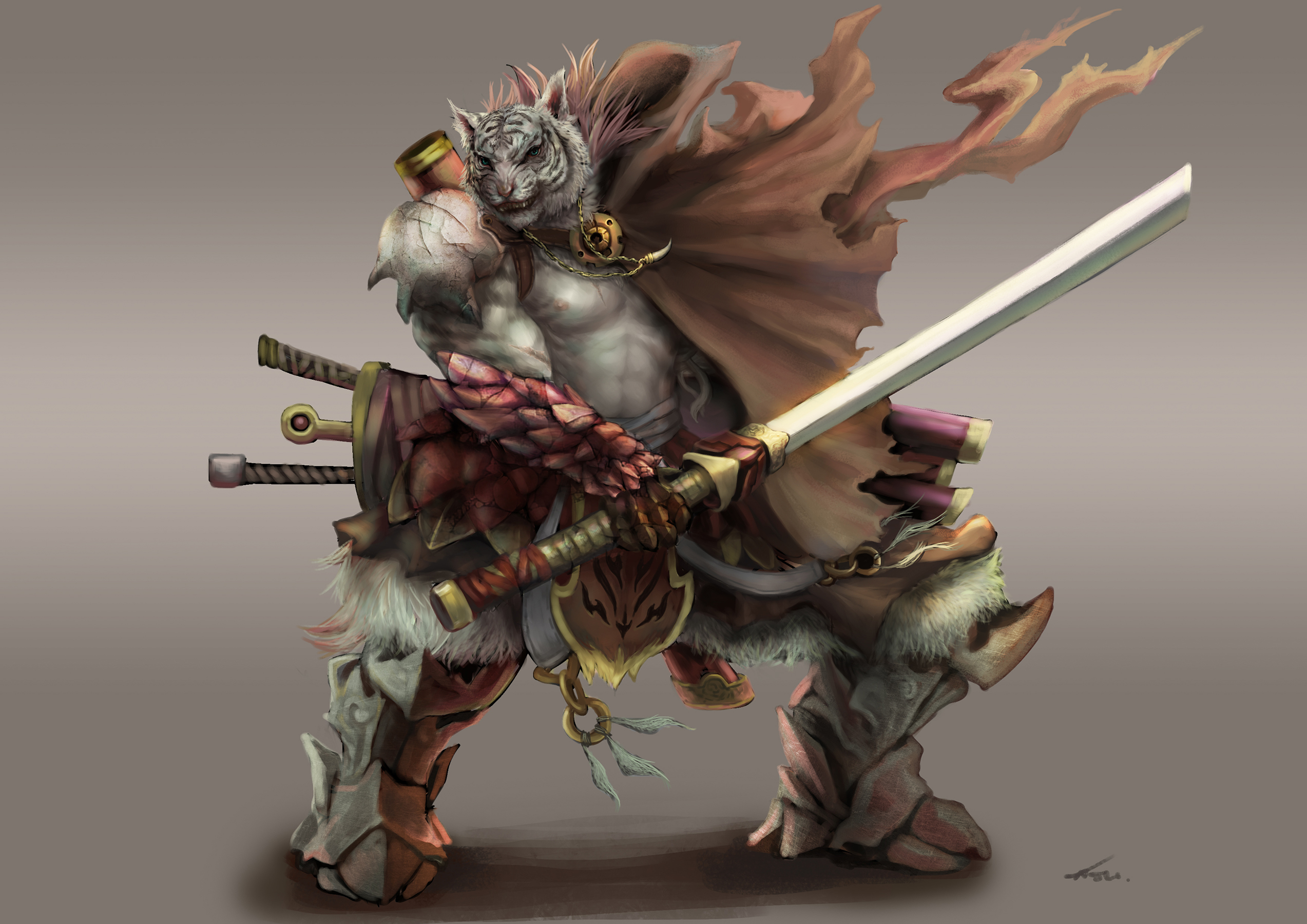 Deviantart Lion Warrior: One Arm Tiger Warrior By Zincwhite On DeviantArt
