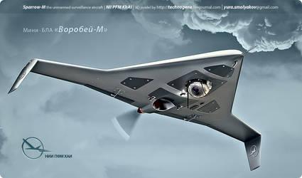 3D render of the Sparrow-M UAV