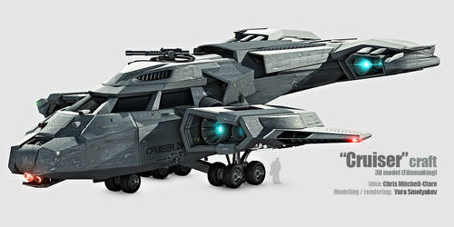 Cruiser Spacecraft 3D model