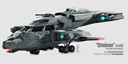 Cruiser Spacecraft 3D model by technogene