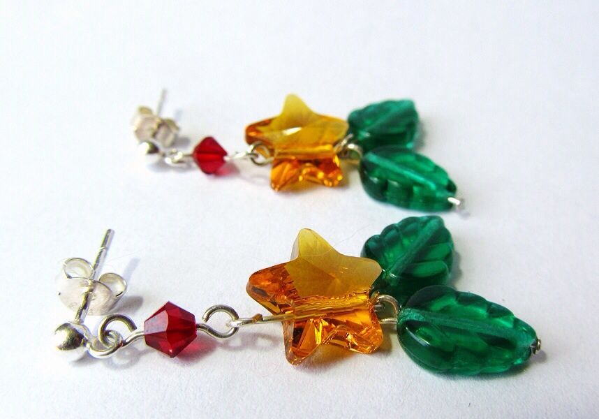 Kingdom Hearts Swarovski Paopu Fruit Stud Earrings by PaintIt13lack
