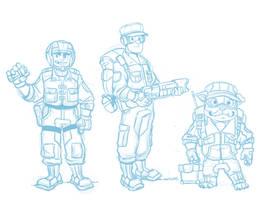 WIP - The Junior Peacekeepers by Kilo-Monster