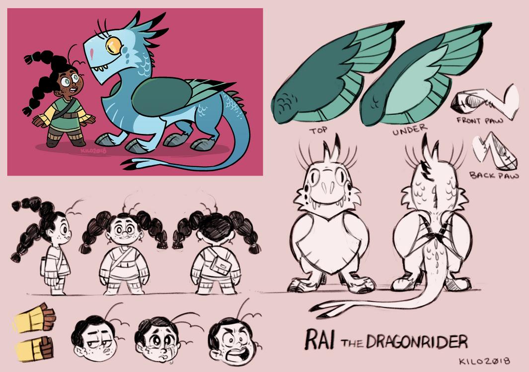 Rai and Burd Character Model by Kilo-Monster